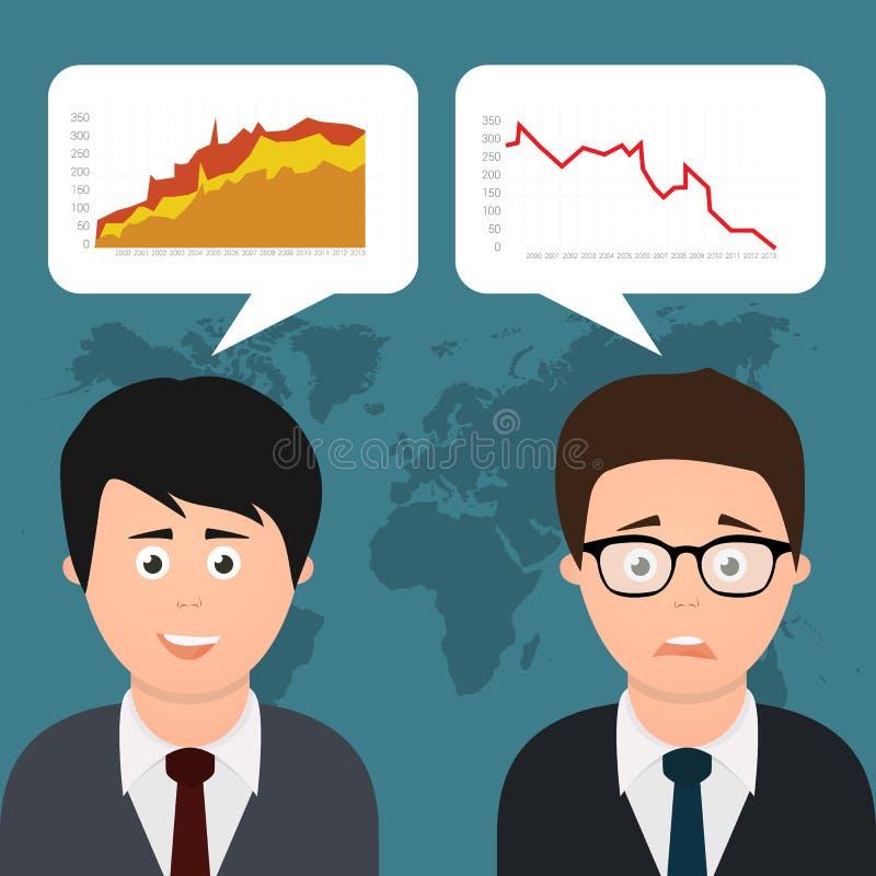 Dois homens de negócios que discutem ilustração stock