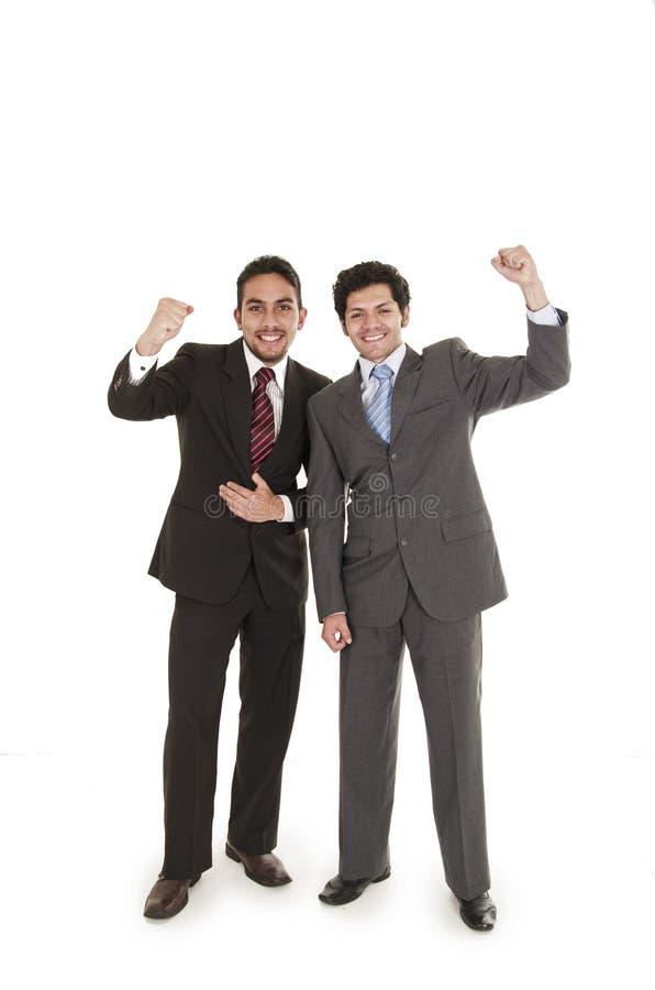 Dois homens elegantes no levantamento dos ternos imagens de stock