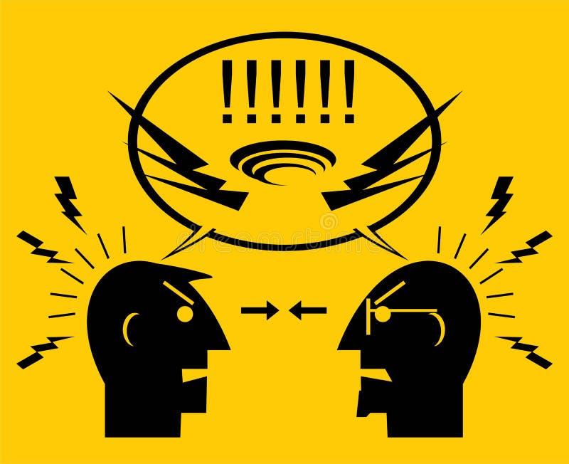 Dois homens irritados ilustração stock