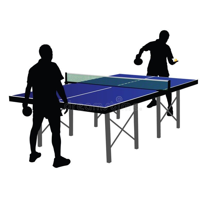 Dois homens que jogam o tênis de mesa ilustração stock