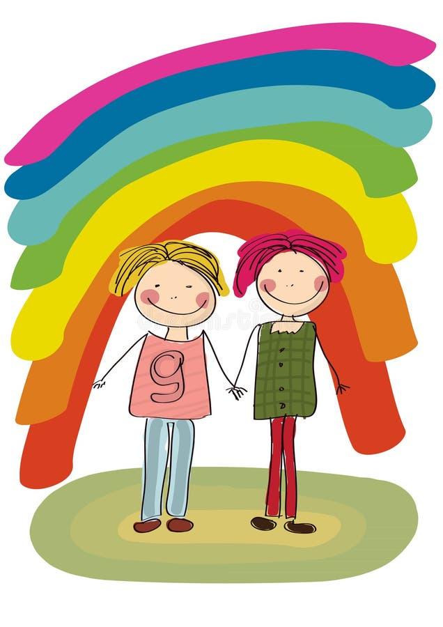 Dois homossexual ilustração do vetor