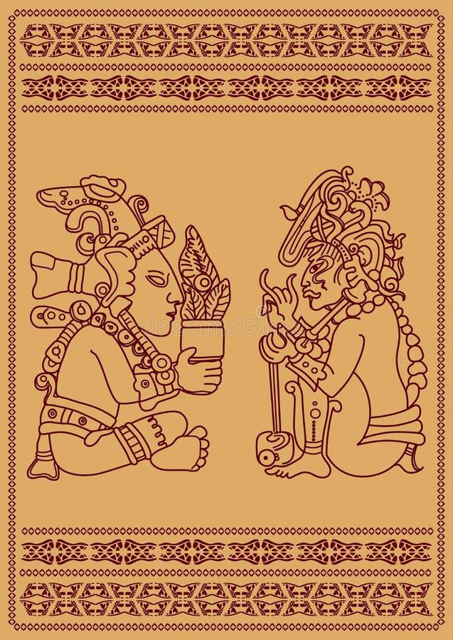 Dois indianos americanos ilustração royalty free