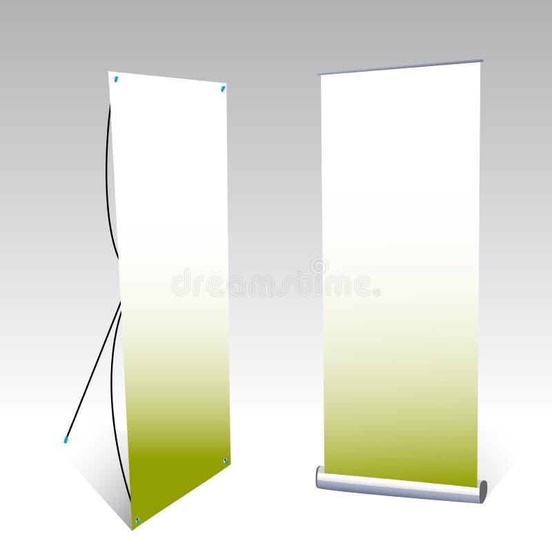Dois indicadores da bandeira ilustração royalty free