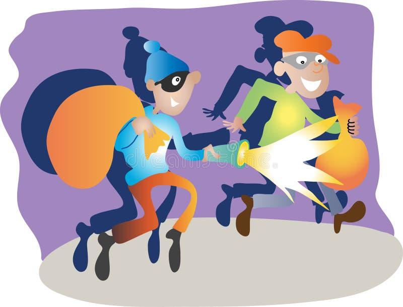 Dois ladrões de banco ilustração stock