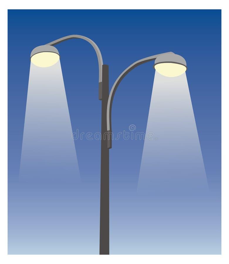 Dois lamppost III ilustração royalty free