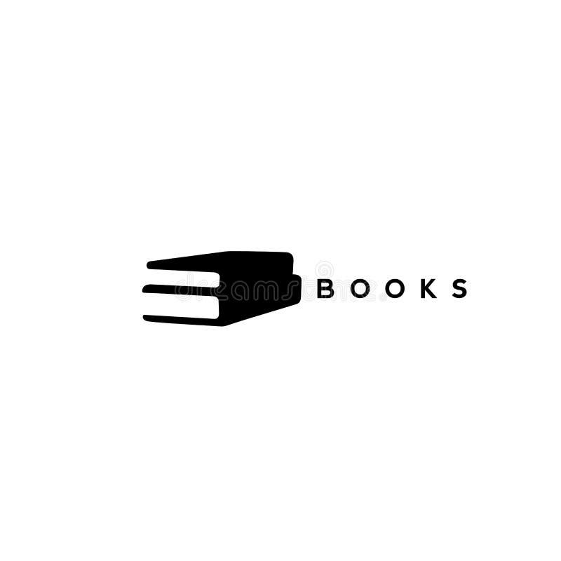 Dois livros negros na ilustração branca do vetor do fundo ilustração stock