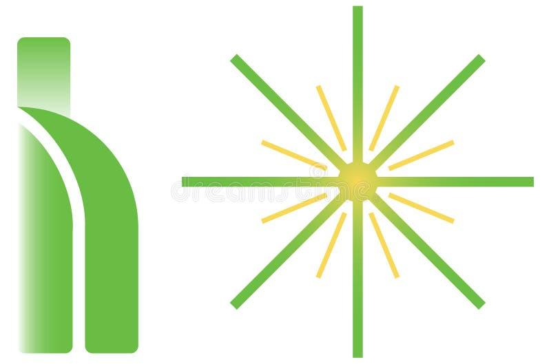 Dois logotipos verdes imagens de stock royalty free