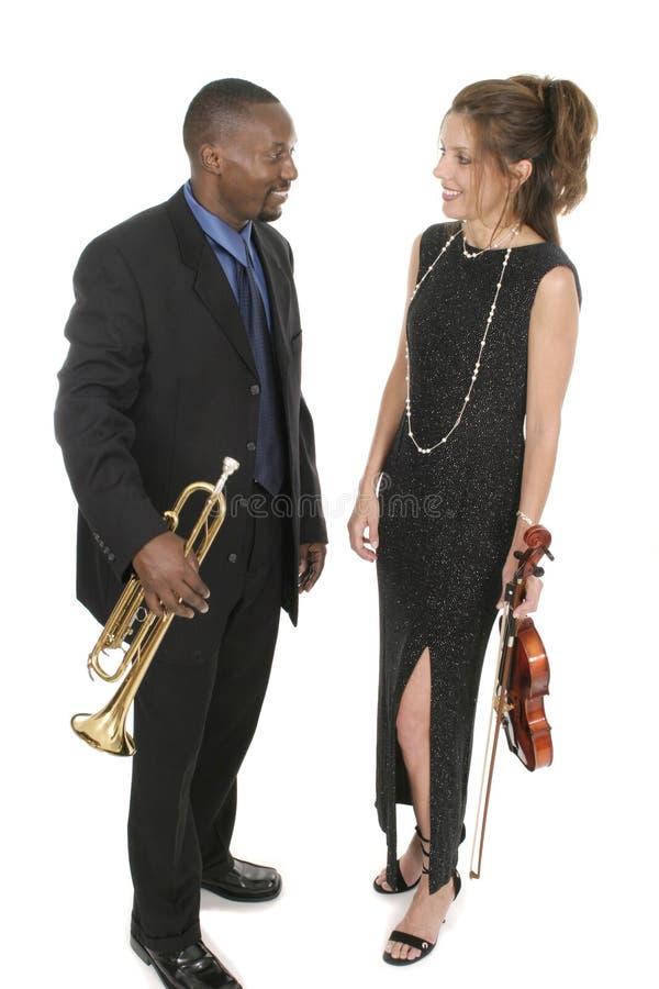 Dois músicos 2 fotos de stock royalty free