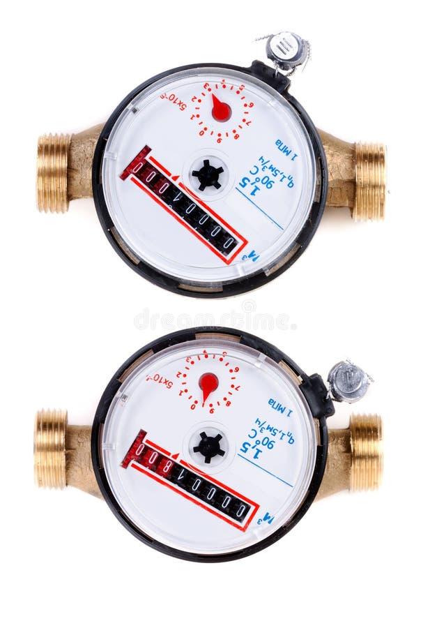 Dois medidores da água de acima imagem de stock royalty free
