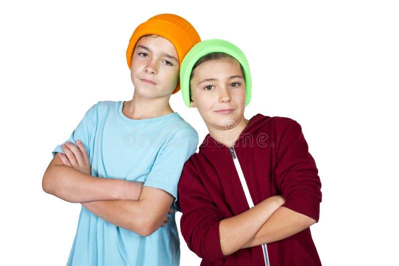 Dois meninos fotos de stock royalty free