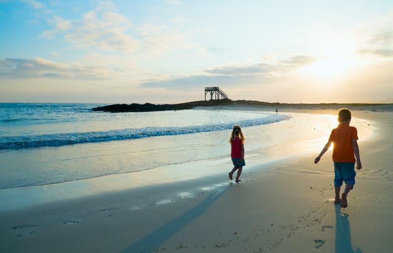 Download Dois miúdos na praia foto de stock. Imagem de feliz, tropical - 29835238