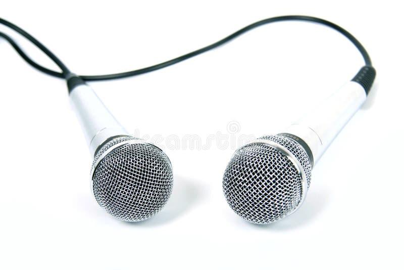 Dois microfones. fotos de stock royalty free