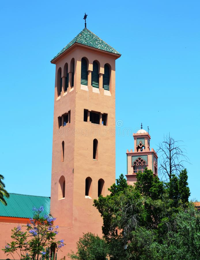 Dois minaretes imagem de stock royalty free