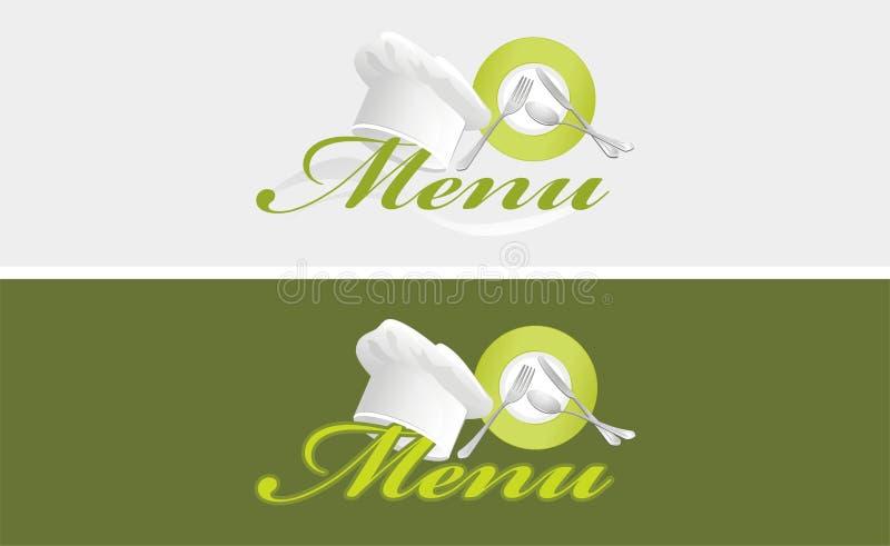 Dois moldes do menu ilustração royalty free