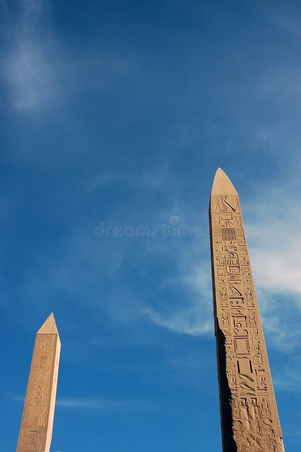 Dois obelisks fotos de stock royalty free
