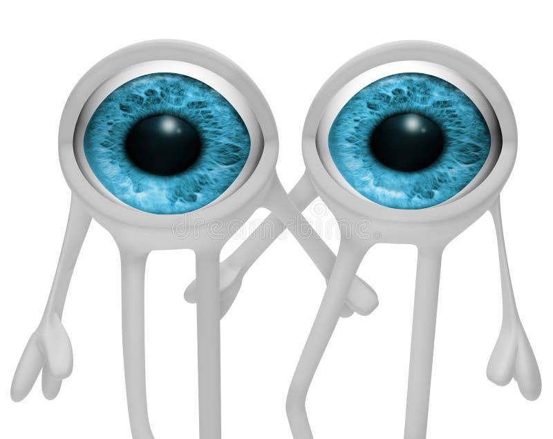 Dois olhos ilustração stock