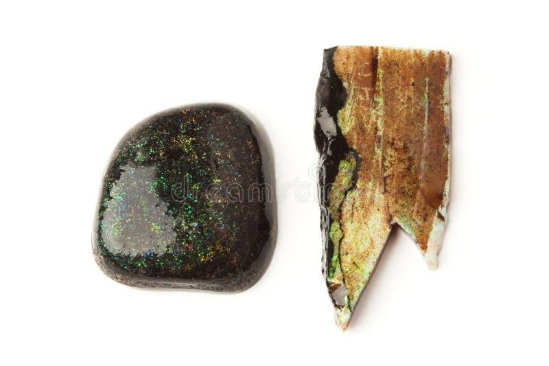 Dois opals da matriz imagem de stock