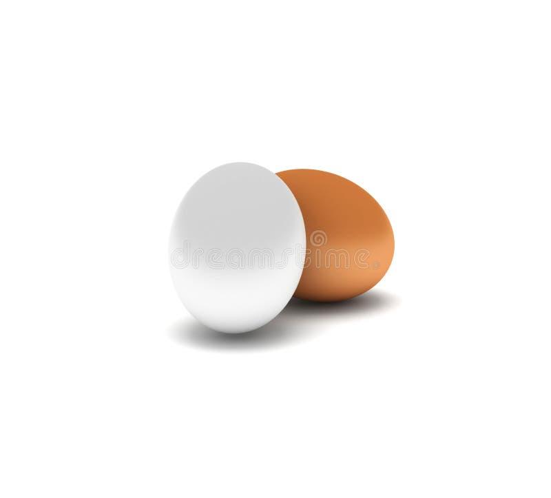 Dois ovos ilustração do vetor