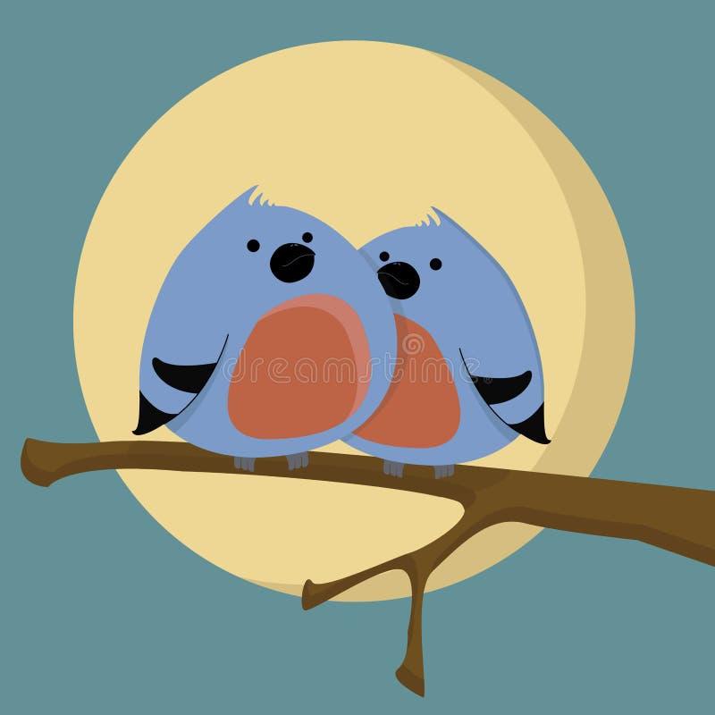 Dois pássaros ilustração stock