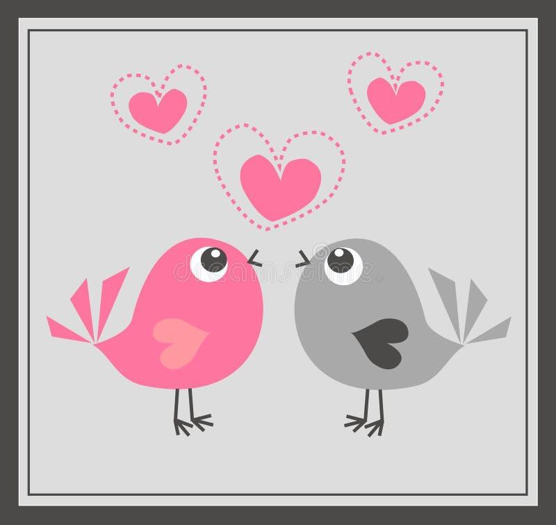 Dois Pássaros Bonitos No Amor Imagem de Stock Royalty Free
