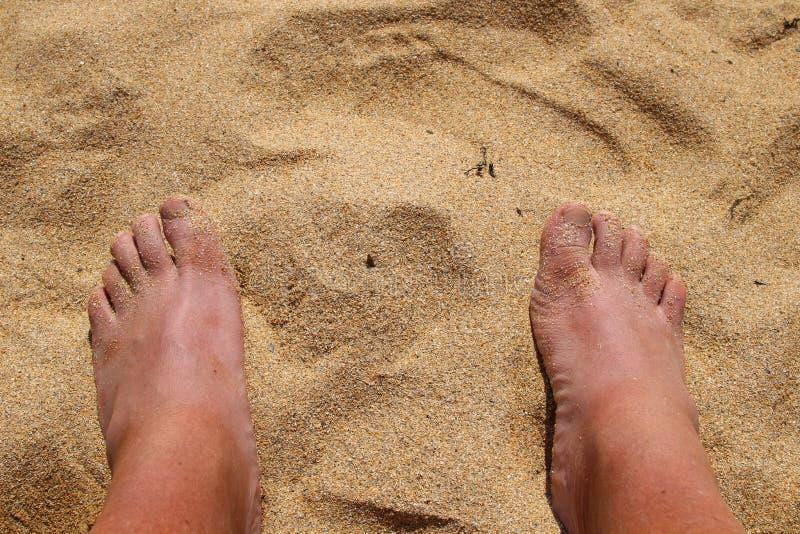 Dois pés fotografia de stock