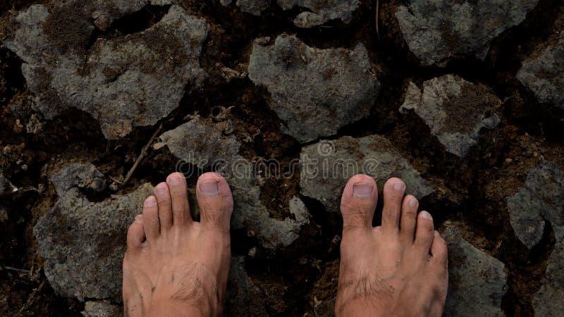 Dois pés da esperança imagem de stock