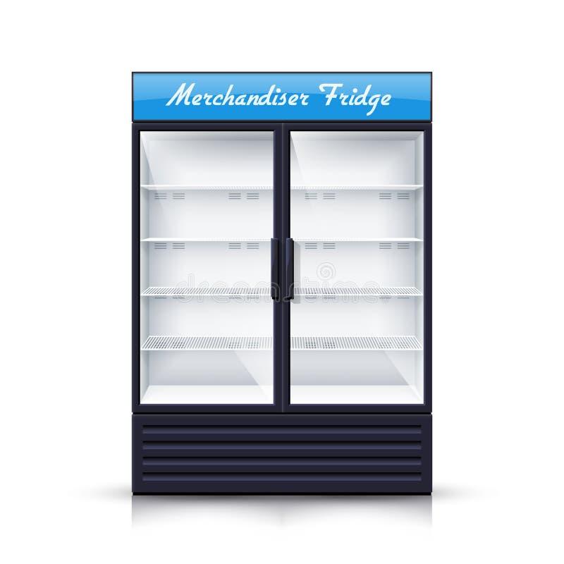 Dois painéis esvaziam a ilustração realística do refrigerador ilustração stock