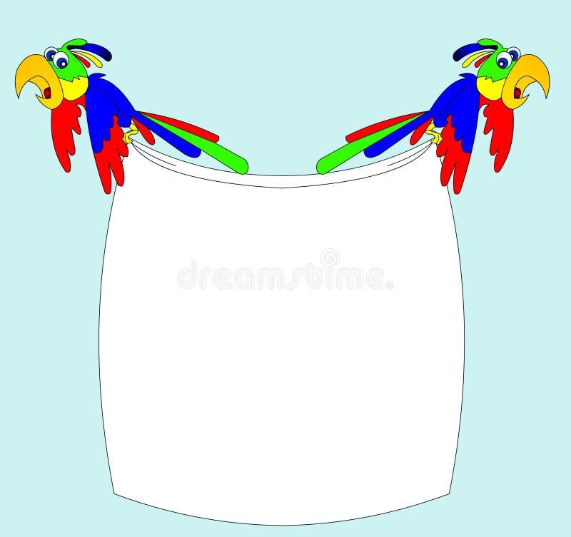 Dois papagaios receosos ilustração royalty free