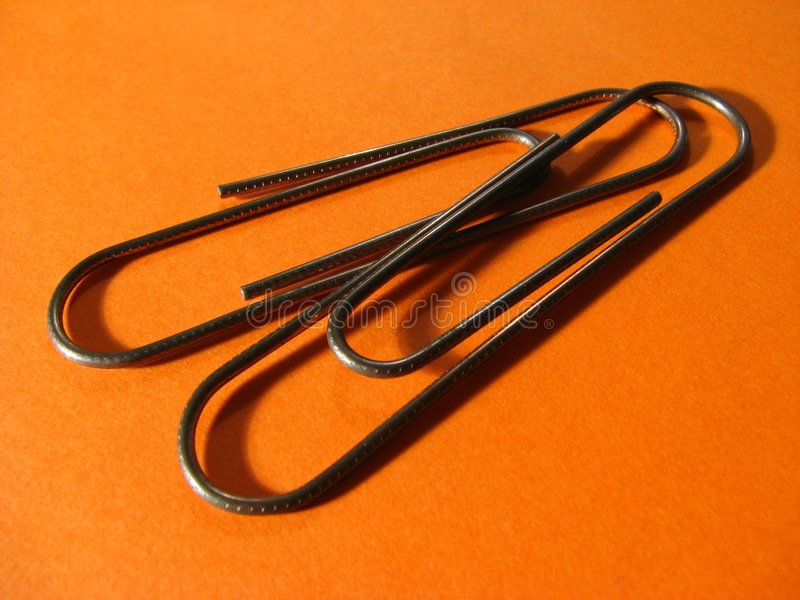 Dois paperclips imagens de stock royalty free