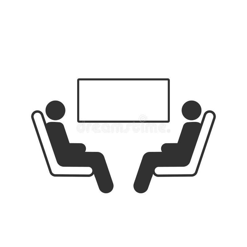 Dois passageiros que assentam e que olham na janela no transporte público, ônibus, plano, trem Ilustração do vetor isolada sobre ilustração do vetor