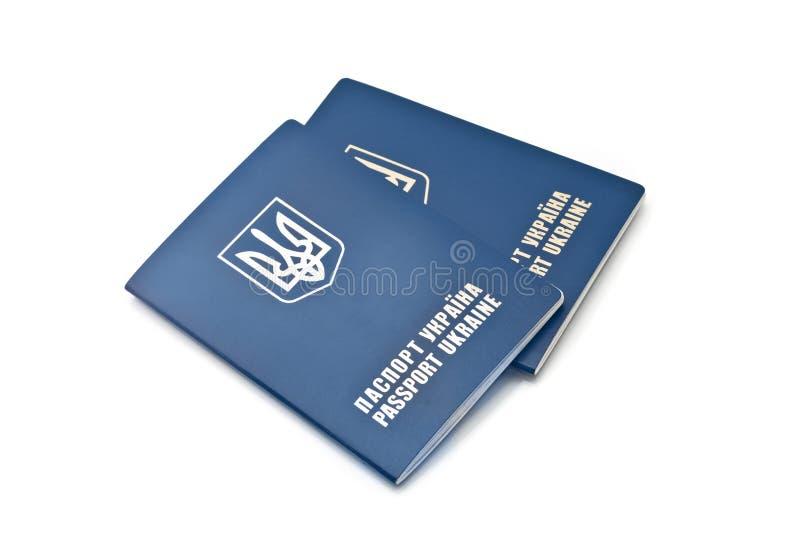 Dois passaportes ucranianos internacionais fotografia de stock