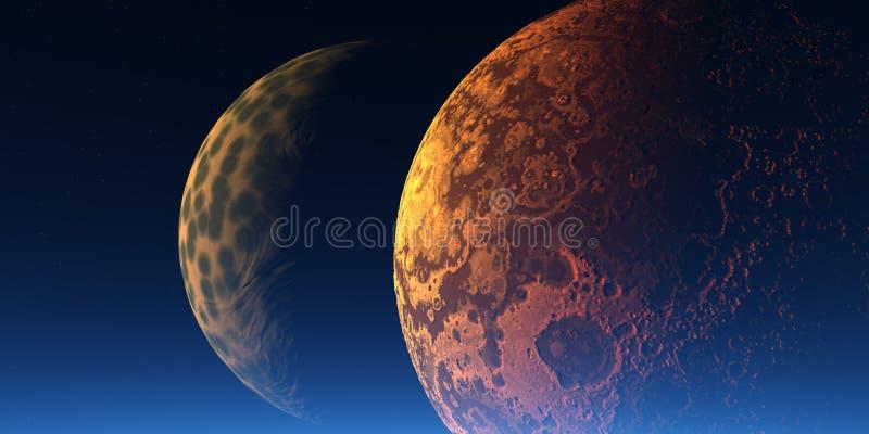 Dois planetas ilustração do vetor