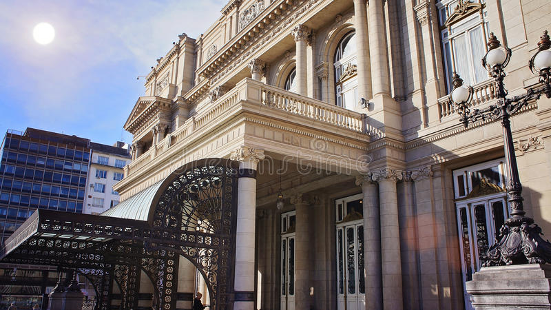 Dois pontos de Teatro do teatro de Buenos Aires imagem de stock royalty free