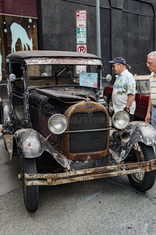 1929 dois porta Ford Model T fotografia de stock