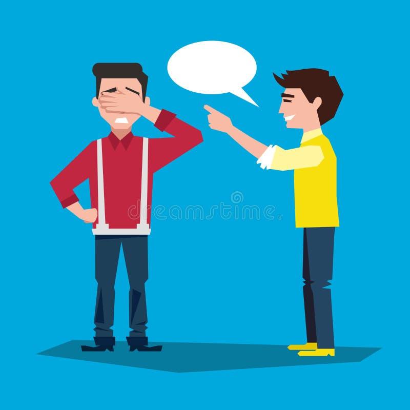 dois povos comunicam-se embarrassment ilustração stock