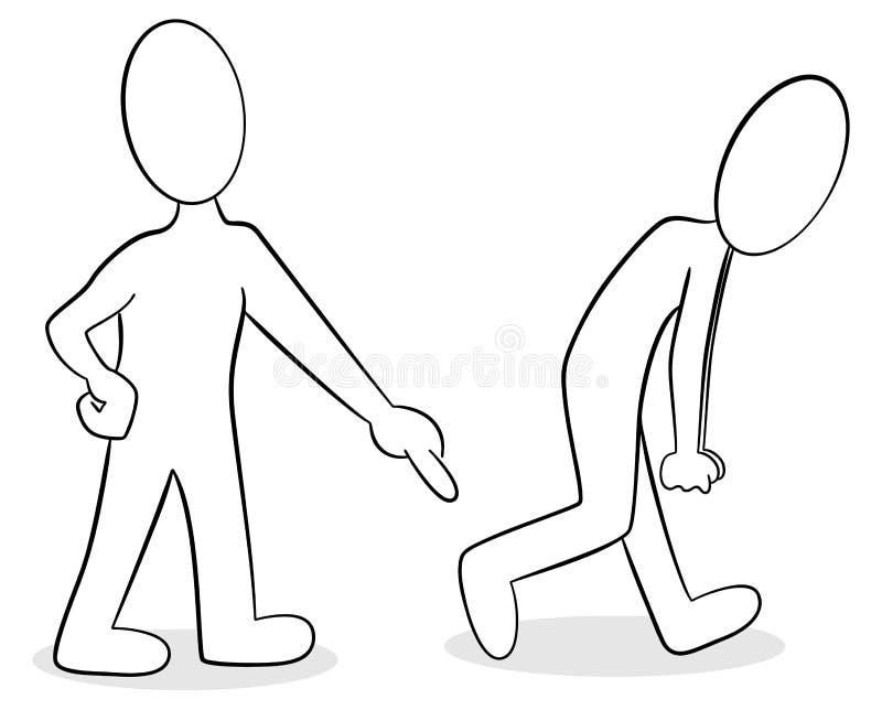 Dois povos são da opinião diferente ilustração do vetor