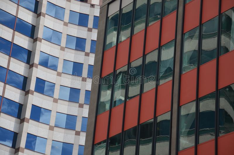 Dois prédios de escritórios em Portland, Oregon imagem de stock royalty free