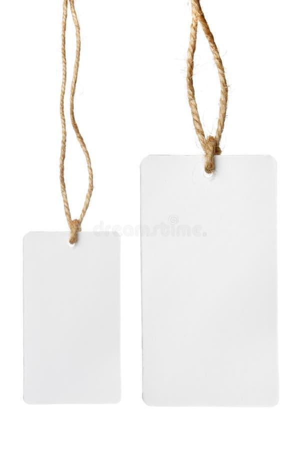 Dois preços em branco fotografia de stock