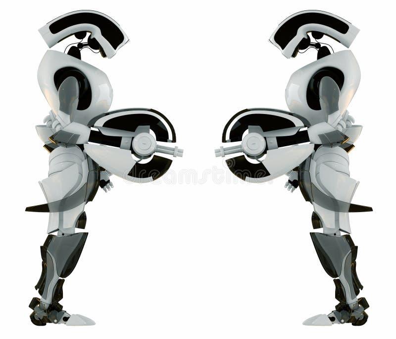 Dois protetores robóticos iguais ilustração royalty free