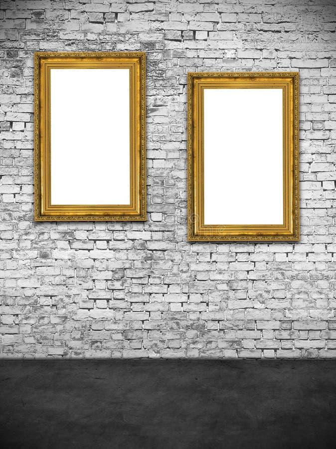 Dois quadros ocos fotos de stock