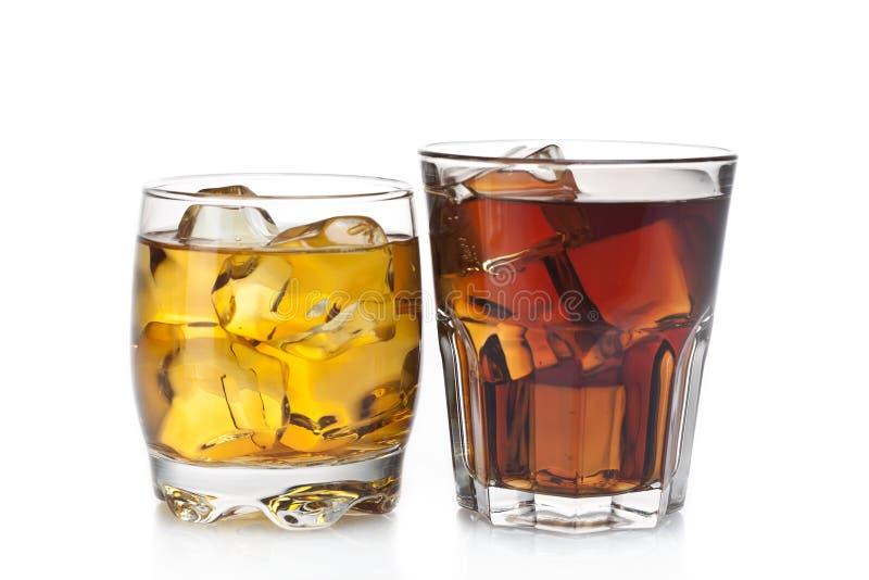 Dois cocktail imagens de stock
