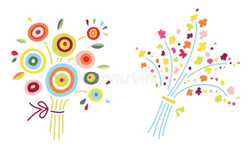 Dois ramalhetes da flor ilustração stock