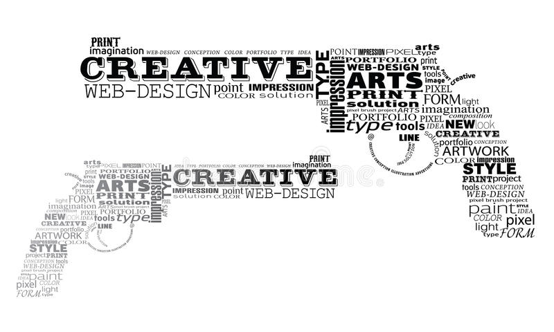 Dois revólveres feitos do typography ilustração do vetor