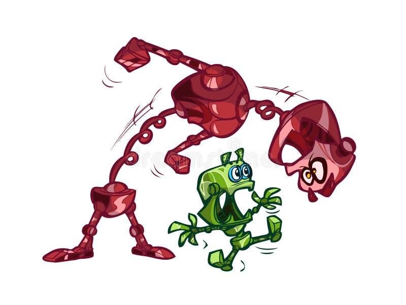 Dois robôs ilustração do vetor