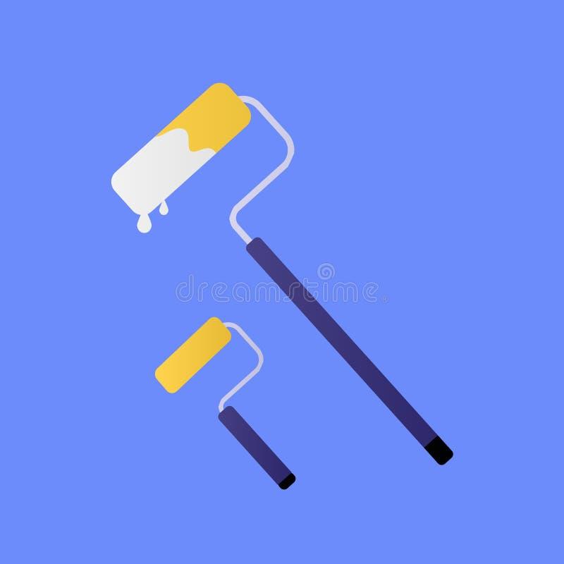 Dois rolos de pintura ilustração stock
