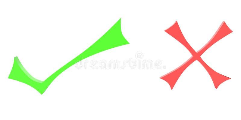 Dois símbolos ilustração do vetor