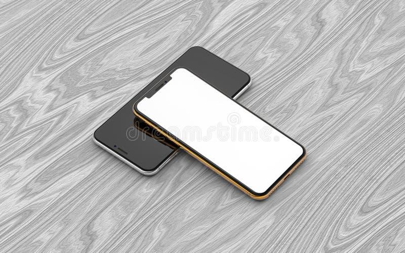 Dois smartphones imagens de stock