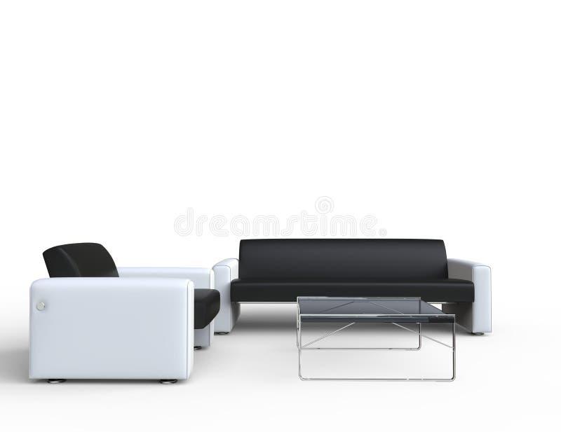 Dois sofás ilustração stock