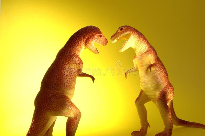 Dois T-Rex Foto de Stock
