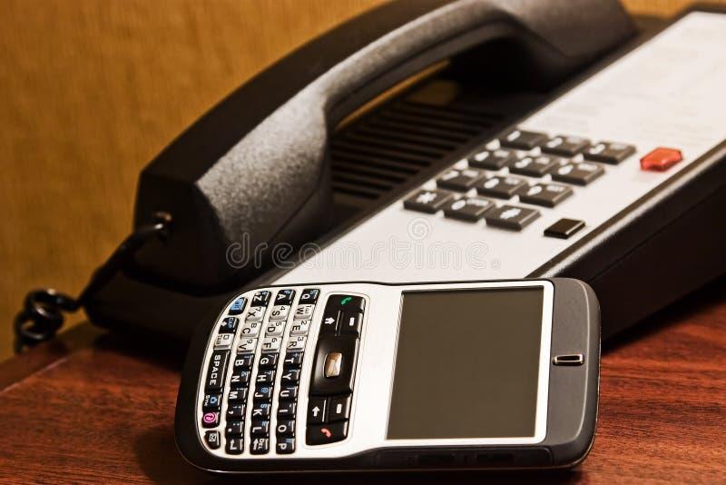 Dois telefones imagens de stock